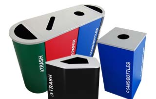 Kaleidoscope Recycling Receptacles Collection