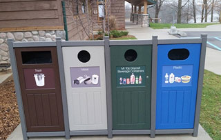 Quad Stream Recycling Bins & Containers