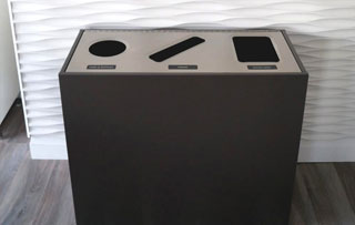 Triple Stream Recycling Bins & Containers