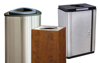 Commercial Single Stream Recycling Containers