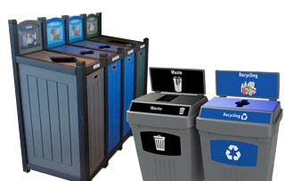 Eco Friendly Recycled Plastic Recycling Bins