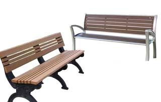 Backed Benches with Arms