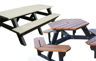 Hexagon Picnic Tables