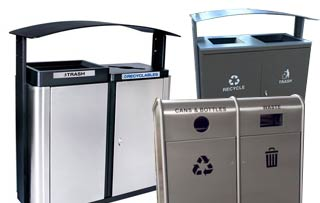 Dual Stream Recycling Bins
