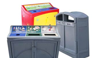 Plastic Front Emptying Recycling Stations