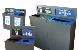 Slimline Recycling Stations