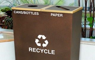 Steel Recycle Bins & Trash Cans Double Stream Recycling Bins & Containers