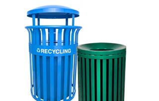 Streetscape Outdoor Trash & Recycling Receptacles