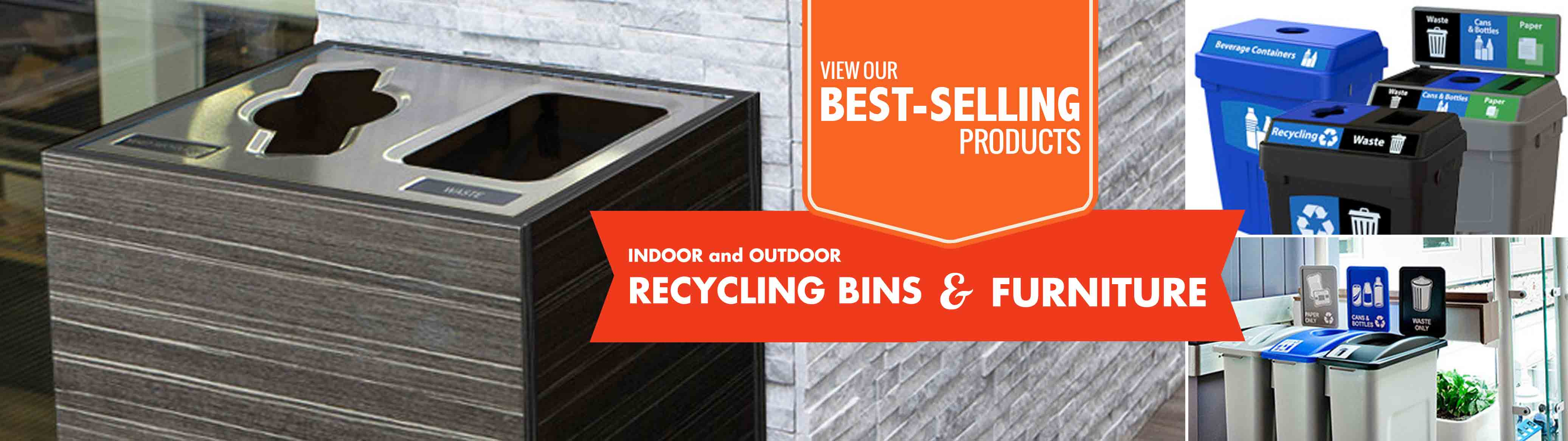 View Our Best Selling Indoor and Outdoor Recycling Bins & Furniture