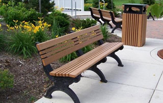 6 Foot - Backed Park Benches