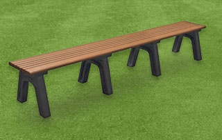8 Foot - Flat Park Benches