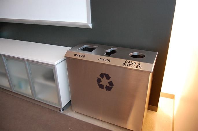 Hendrix R 1 Triple Stream Recycling Bin Waste Wise Products