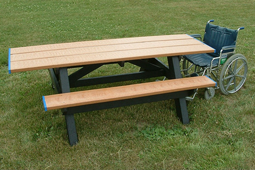 Standard ADA Compliant Double Access Picnic Table - Ada picnic table requirements