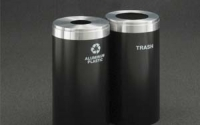 RecyclePro 23 Gallon Double Stream | Modular Aluminum Receptacle