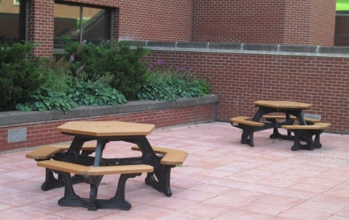 Plaza Hexagon Picnic Table Waste Wise Products