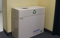 Fiberglass Double Stream Recycling Bin