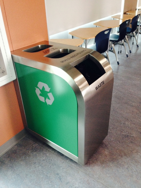 Leaf Triple Stream Recycling Bin Waste Wise Products