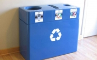 Fiberglass Triple Stream Recycling Bin