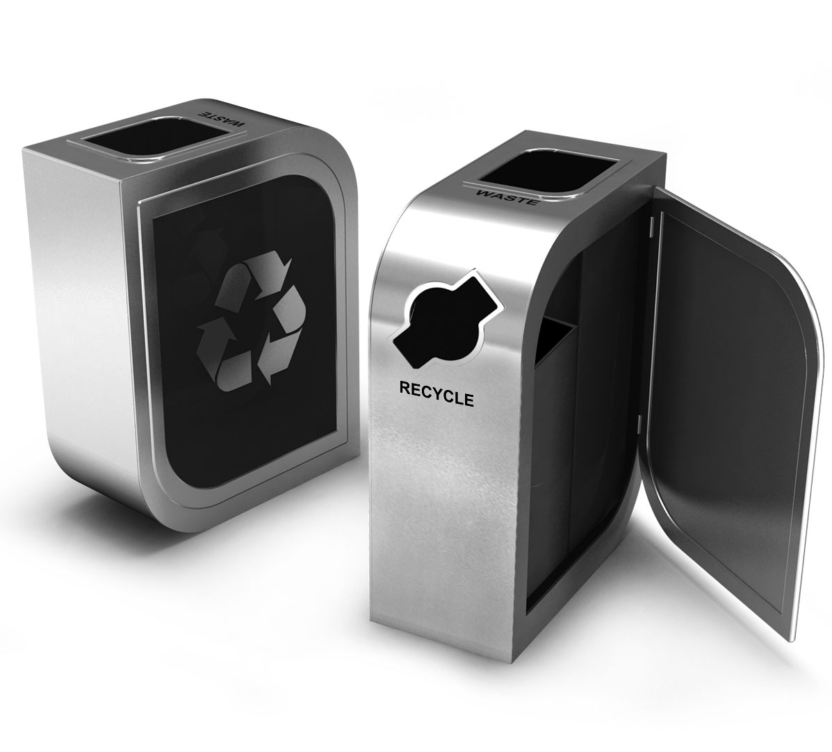 Leaf Double Stream Recycling Bin Waste Wise Products