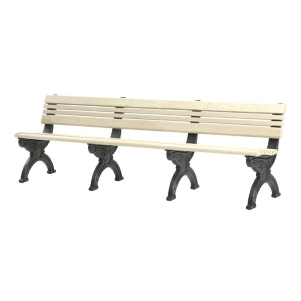Cambridge 8 Foot Backed Bench Waste Wise Products