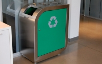 Leaf Triple Stream Recycling Bin