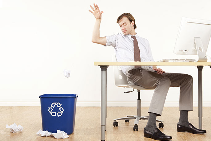 Paper reduction recycling bins tips for a greener office for Where to throw away furniture