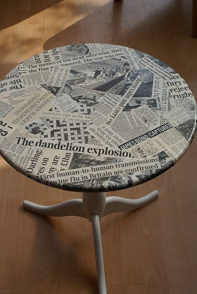 Upcycling the Unusual into the Unexpected - Decoupage Table