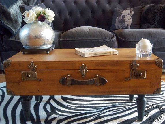 Upcycling the Unusual into the Unexpected - Suitcase Coffee Table