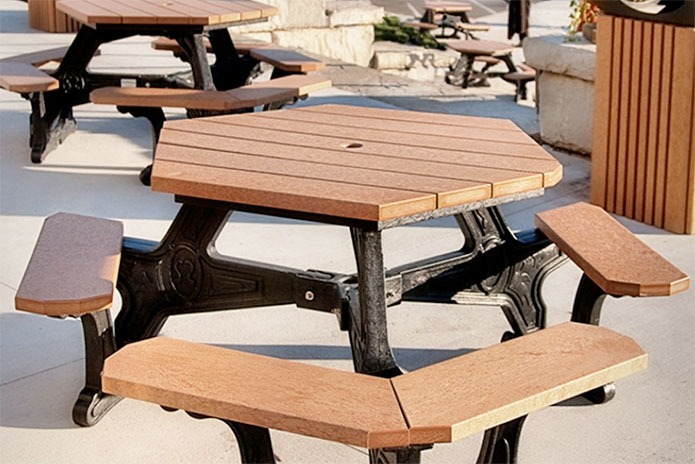 Choose Recycled Plastic Tables Over Wood Waste Wise Products - Picnic table recycled plastic lumber