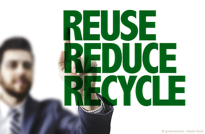 3 Ways to Reduce, Reuse, and Recycle At Work