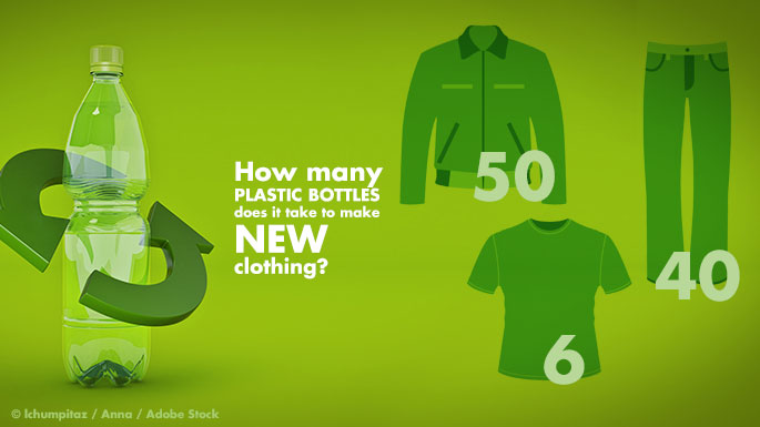 How many plastic bottles does it take to make new clothing?