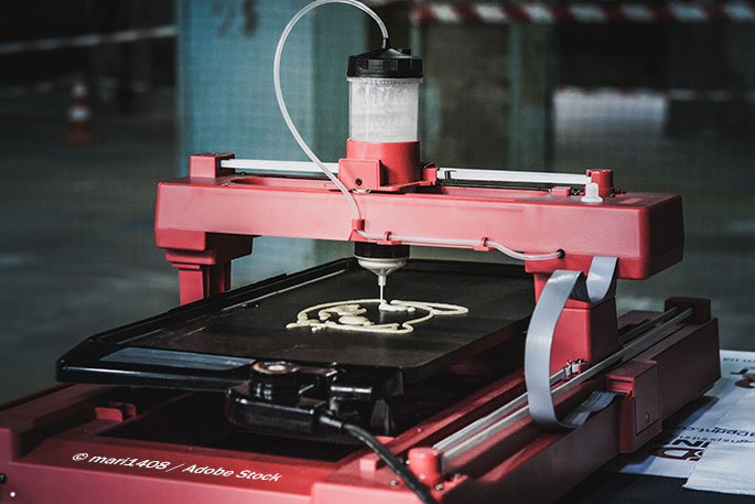 Using a 3D printer to combat food waste