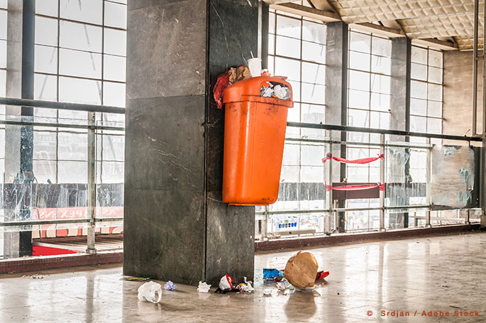 Are Your Workplace Garbage & Recycling Bins an Eyesore?