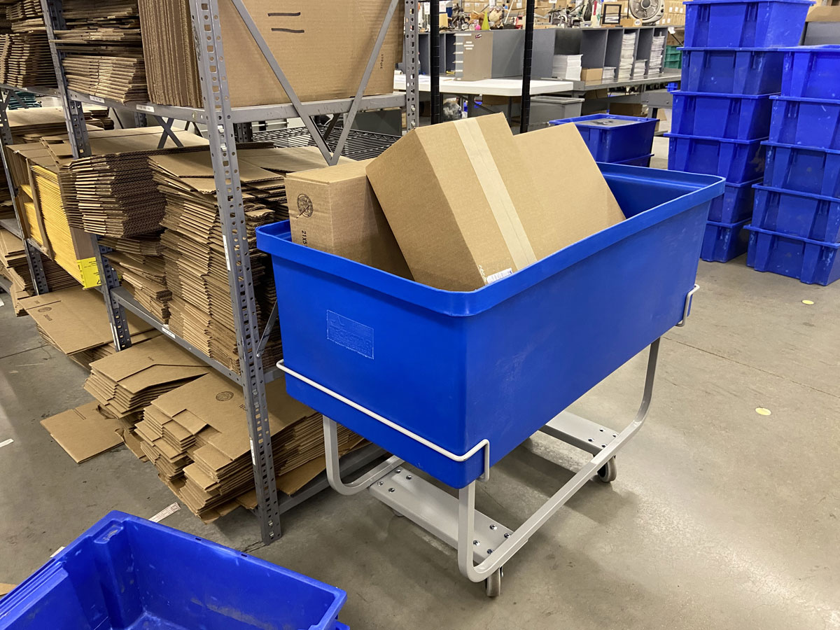 How Grocery Stores and Food Warehouses Use Scale Carts