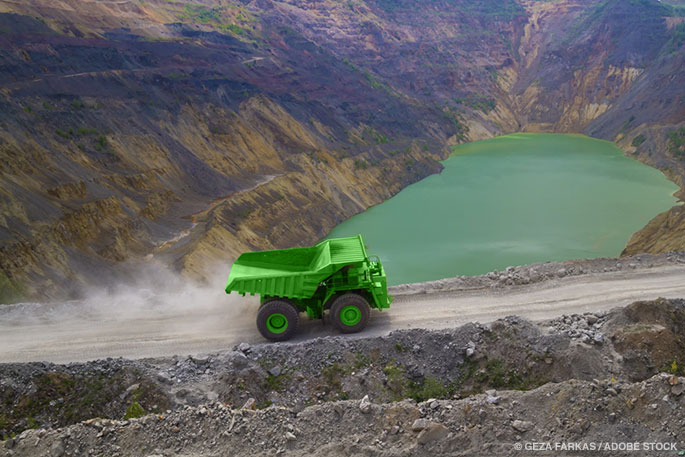 The World's Largest Dump Truck Never Has To Be Recharged