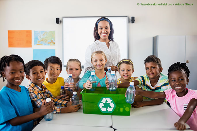 Start a school recycling program